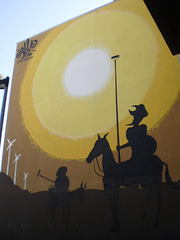 Mural of 21st century Don Quijote, by Slap.