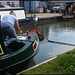 painting the canal boat