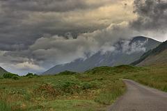 Turbulent clouds over Glen Etive