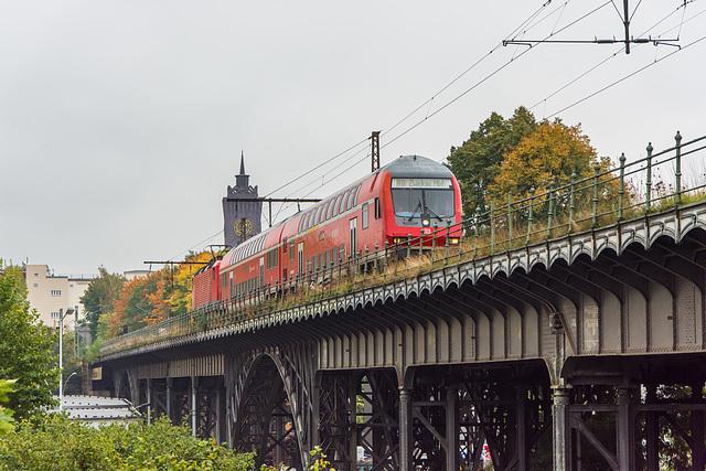 Regionalbahn auf der Fahrt Richtung Siegmar