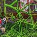 Green Bike Fence