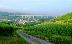 DE - Heimersheim - Ahrtal bridge, seen from the vineyards