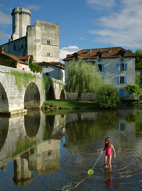 The Dronne at Bourdeilles, France.