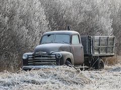 Frosty old Chevrolet truck