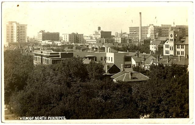 WP1878 WPG - VIEW OF NORTH WINNIPEG