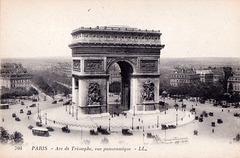 Parizo : la Triumfa Arko ĉirkaŭ 1920