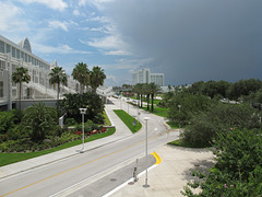 Florida thunderstorm during conventiongoing of Orange County Convention Center.