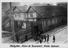 Bildkarto nigrablanka - Naskiĝdomo de d-ro Zamenhof en str. Zielona 33, Bjalistoko