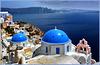 Santorini : Oia vista da nord, laggiù Thira