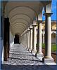 Napoli : il colonnato del chiostro della Certosa di San Martino - (842)
