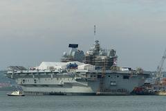 HMS Queen Elizabeth at Portsmouth - 22 April 2018