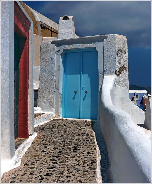 Santorini : Strade strette pedonali e scalinate