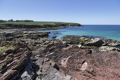 St Brides Haven: colourful rocks, colourful sea