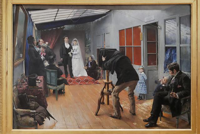 """""""La noce chez le photographe"""" (Pascal Dagnan-Bouveret - 1879)"""