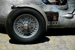 Hinterrad eines alten Alfa Romeo