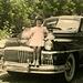 Carole and McGuffey Ann on the DeSoto, 1949