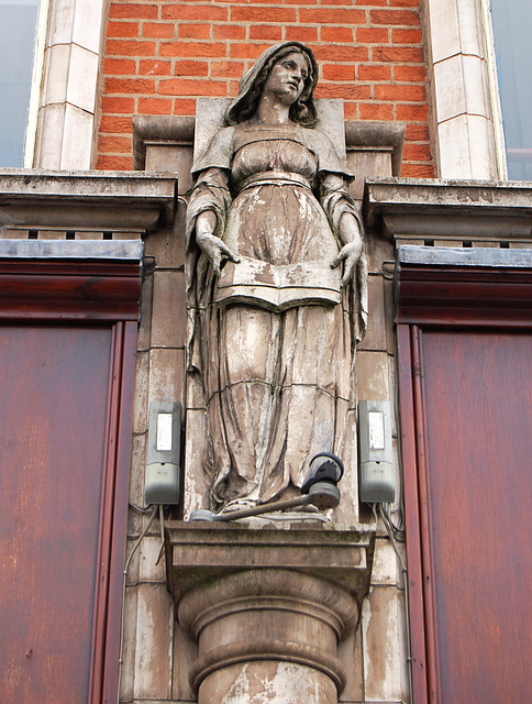 Terracotta Allergorical Figure by Gibbs and Canning, Digbeth Institute, Digbeth High Street, Birmingham
