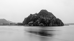 Dumbarton Castle at the Confluence of the River Leven and the River Clyde