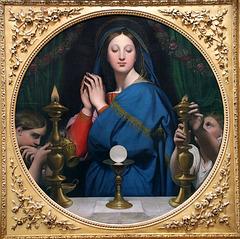 La Vierge adorant l'hostie - De Jean Auguste Dominique Ingres