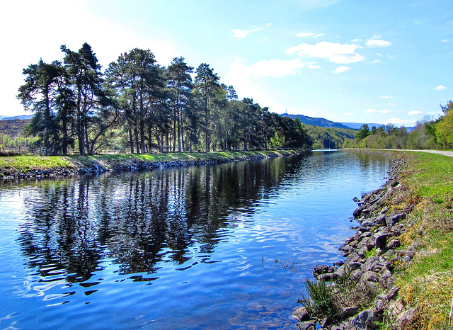 Reflections on the Caledonian Canal, south of Fort Augustus