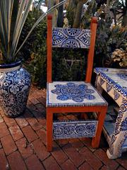 Mexican furniture ornaments.