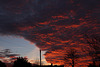 Sunset and cloud formations