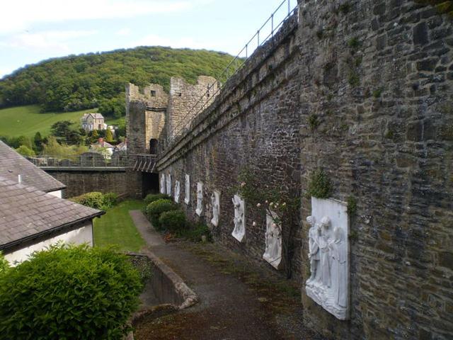 Walls of Conwy Castle.