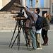 Observation de faucons sur la cathédrale de Chartres . Je me suis senti diminué avec mon 24-105