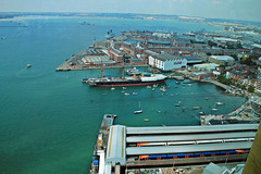 View from on high ~ HMS Warrior from Spinnaker tower ~ Portsmouth