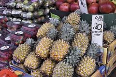 """""""Honey"""" Pineapples – Carmel Market, Tel Aviv, Israel"""