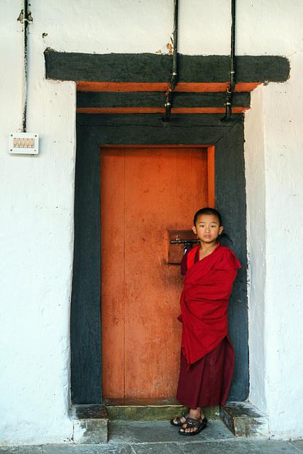 Novice at Punakha Dzong