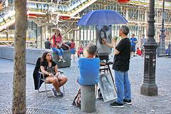 Pariser Straßenszene