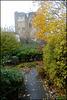 castle path in autumn