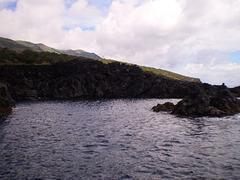 Volcanic coast.