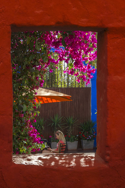 Through the wall: Santa CAtalina Convent, Arequipa, Peru