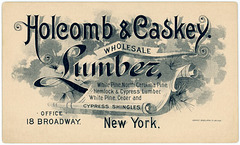 Holcomb and Caskey, Wholesale Lumber, New York, N.Y.