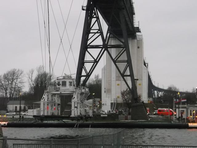 Schwebefähre Rendsburg Kollision mit Frachter am 08.01.2016