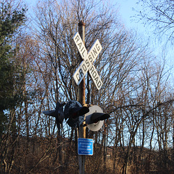 Old Railroad Crossing Sign