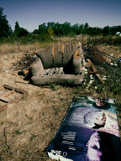 Discarded Couch + Poster