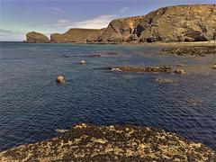 Basset Cove and Porthcadjack from Crane Islands.