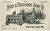 Petroleum Soaps, Rice and Robinson Soap Company, Titusville, Pennsylvania, 1892