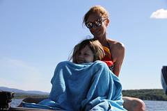 Avec sa tante préférée