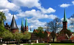 DE - Lübeck - Skyline