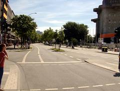 Hamburg St. Pauli, einen Tag vor dem G20 - Gipfel