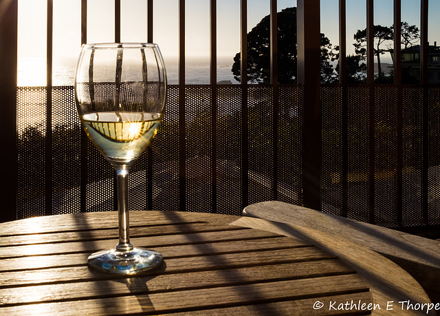 Carmel, Tickle Pink Inn, Chardonnay, and Pacific Ocean View