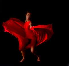 coquelicot dansant dans la brise ; ou le papillon rouge...