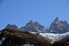Aiguille de l'M 2844 m.ü.M.  im Mont Blanc Massiv