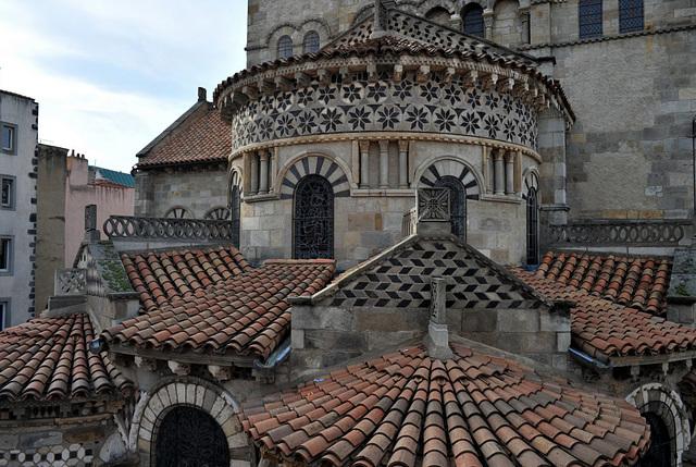 Chevet de la basilique N.D. du Port à Clermont-Ferrand