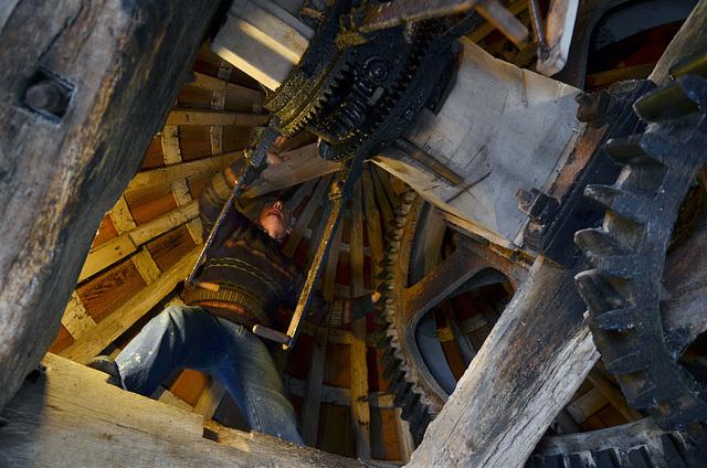 Le meunier dans son moulin