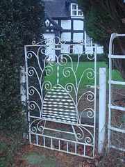 The gate at Beehive Cottage, Balterley, near Betley.